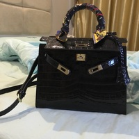 [Hely Coptar] 100% Genuine Cow Leather Women Handbag Luxury Designer Alligator Shouder Bags for Women Classic Style Top Handle