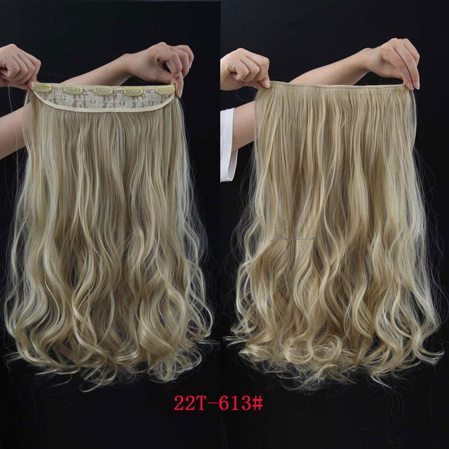 Russian Clip In 22inches Curly Highlight Hair Extensions Natural Light Brown And White Extension