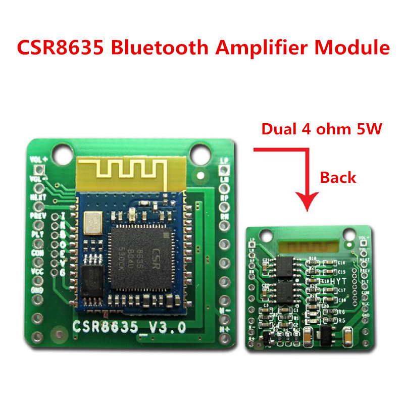 New CSR8635 Dual 5W Bluetooth 4.0 /4.1 <font><b>Amplifier</b></font> Board Audio Bluetooth 4.1 Receiver <font><b>Module</b></font> with Call Function image
