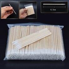 300 шт короткие деревянные ручки маленькие остроконечные головки