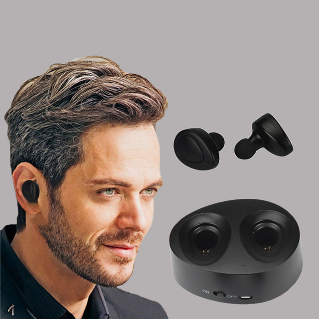 Puscard Twins Portable Mini Wireless Bluetooth+CSR Earphones Clear Bass Noise Isolating In-Ear Stereo Earbuds For Phone PC Mp3