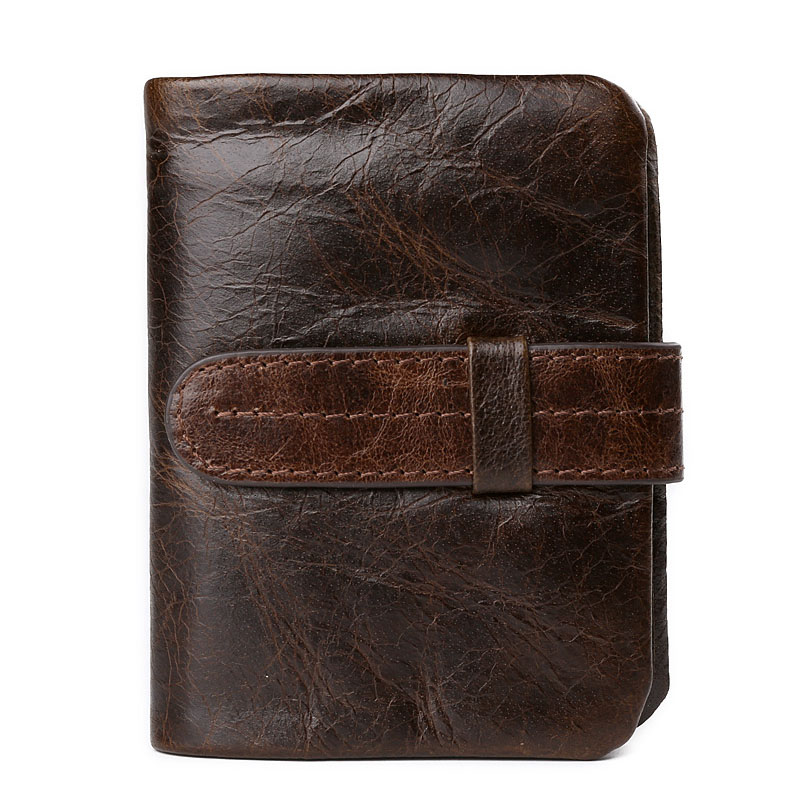 Genuine Leather Men Short Wallet 100% Cowhide Card Holder Clutch Coin Pocket Money Bag Male Hasp Vintage Top Grade Luxury Purse anime cartoon pocket monster pokemon wallet pikachu wallet leather student money bag card holder purse