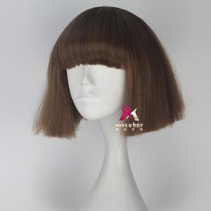 Image 3 - Panna U włosy krótkie proste włosy Fran Bow brązowy kolor dziewczyna gra Halloween peruka do cosplay