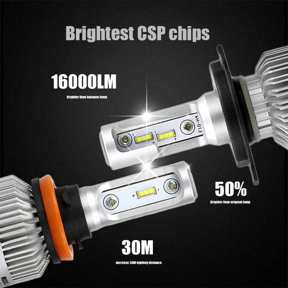 ANMINGPU 2017 16000lm/pair Headlight Bulbs H7 H4 LED H8 H11 HB3/9005 HB4/9006 H1 H3 9012 H13 9004 9007 72W Auto Bulb Car Light