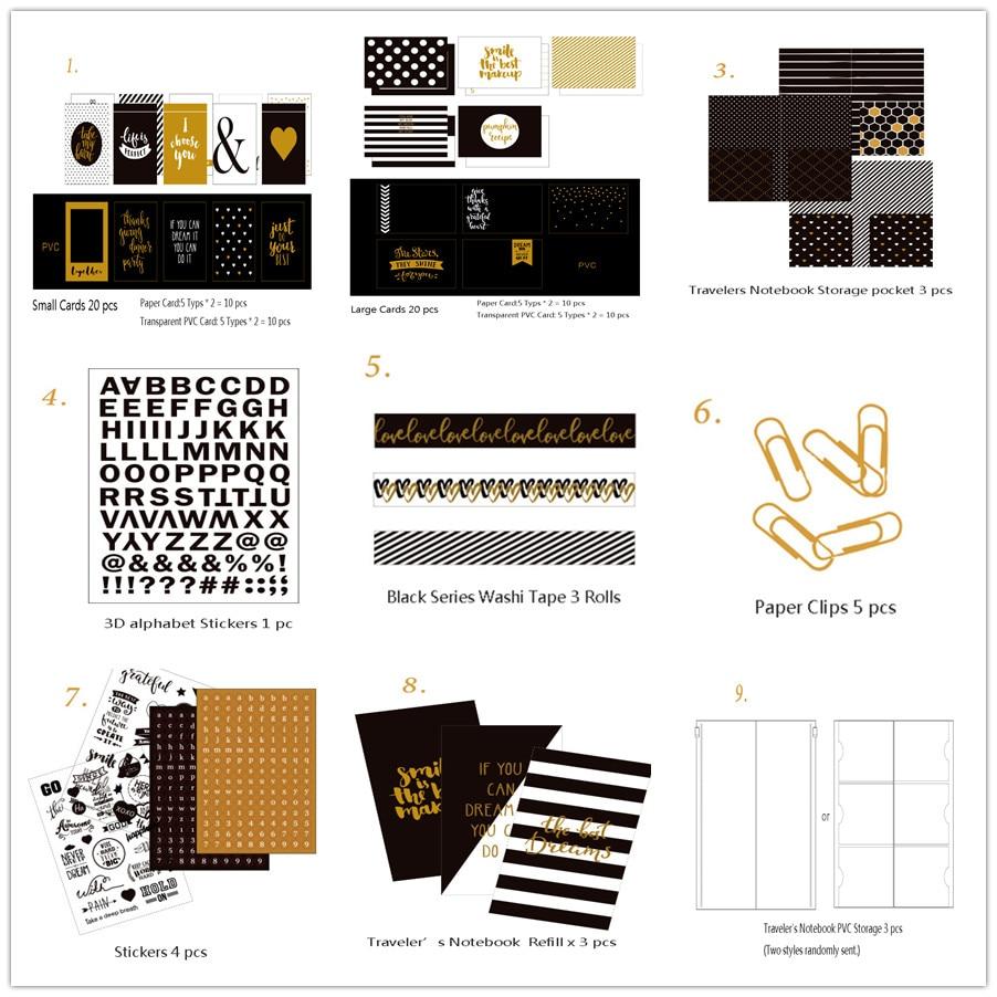 Dokibookブラックシリーズ文房具セットfor - 学校および教育用品 - 写真 2