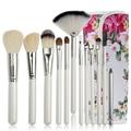 12 Unids Kits de Cepillo Del Maquillaje Sintético Profesional Cepillo Cosmético Del Maquillaje Fundación Sombra de Ojos Eyeliner Brush Kits Pincéis Maquiagem