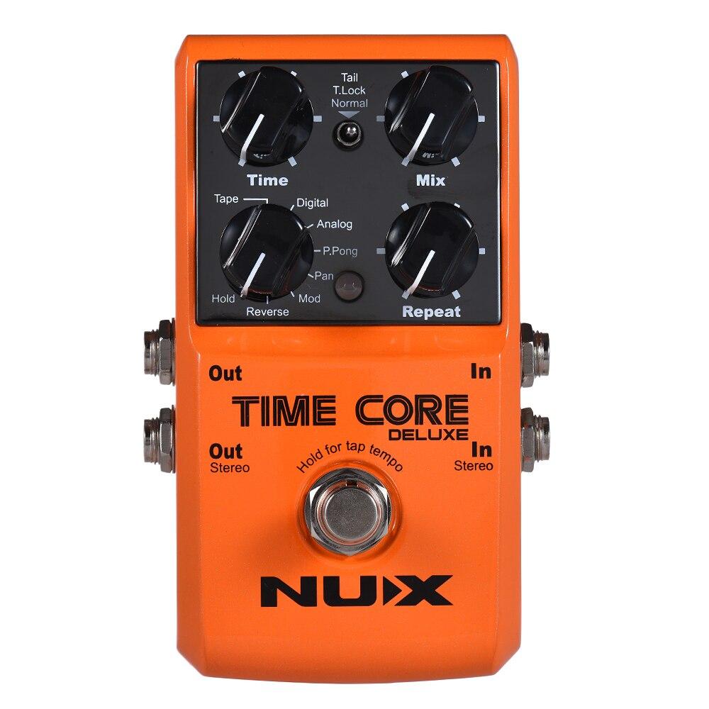 NUX TIME CORE DELUXE guitare électrique effet de retard numérique pédale avec 7 Types de retard 40s enregistrement en boucle véritable contournement