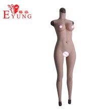 Eyung силиконовые формы груди D-Cup Размер Искусственный искусственная вагина для трансвестита Косплей транссексуал всего тела костюмы женские