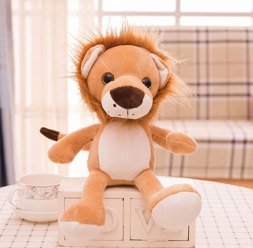 new cute plush jungle lion toy stuffed big eyes lion doll gift about 25cm