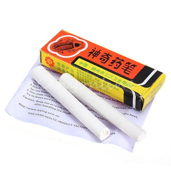 2Pcs Anti Cockroach Killing Bait Box Miraculous Insecticide Chalk Pest Cockroach Roaches Magic Pen YH-460321