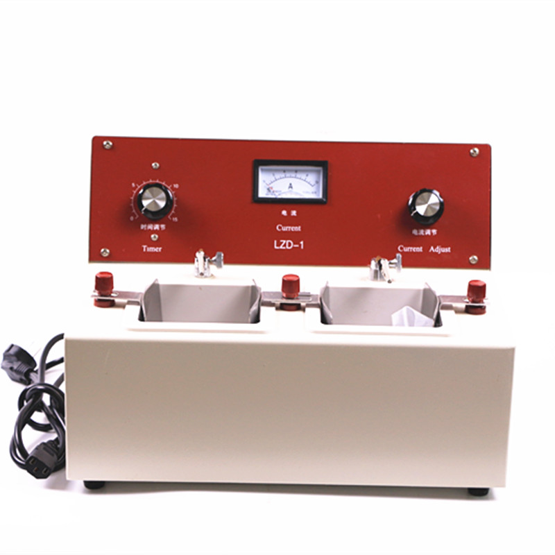 Two Groove Electropolisher Dental Electrolytic Polishing Machine With Two Water Baths For Cr-co And Stainless Steel Workpieces