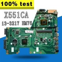 X551CA Motherboard I3 CPU For ASUS X551CA X551CAP X551C X551 F551C F551CA Laptop motherboard X551CA Mainboard X551CA Motherboard