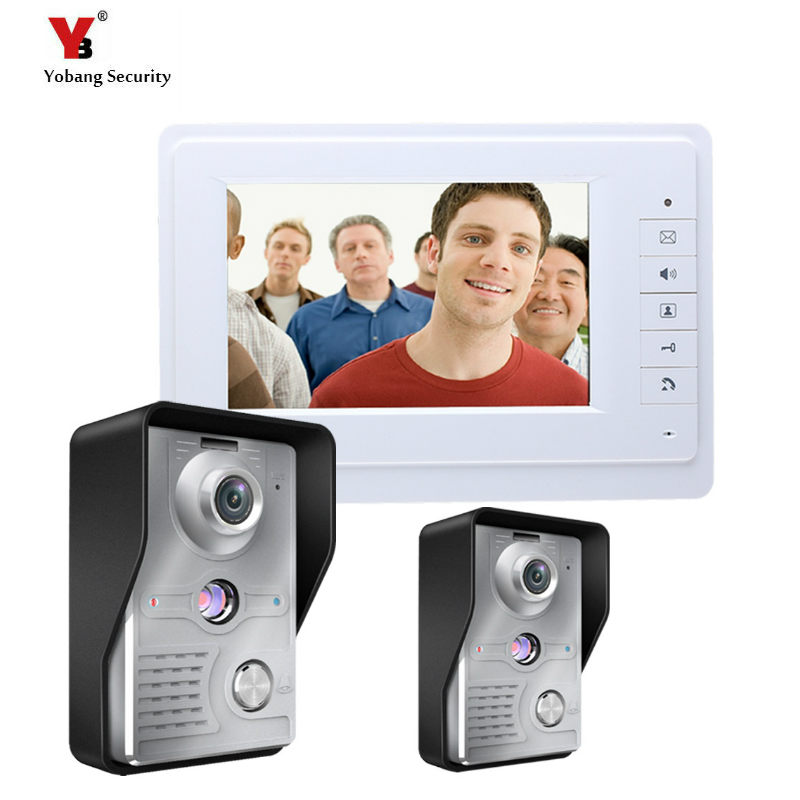 Yobang Security 7 Inch Video Door Phone Doorbell Intercom video door intercom video doorphone door bell camera Night Vision 7 inch monitor video door phone intercom doorbell kits 1v6 video doorbell doorphone intercom system night vision alloy camera