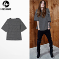 2017 Striped Tshirt Homme High Street Mens Hip Hop Justin Bieber T Shirt Kanye Brand big size Clothing