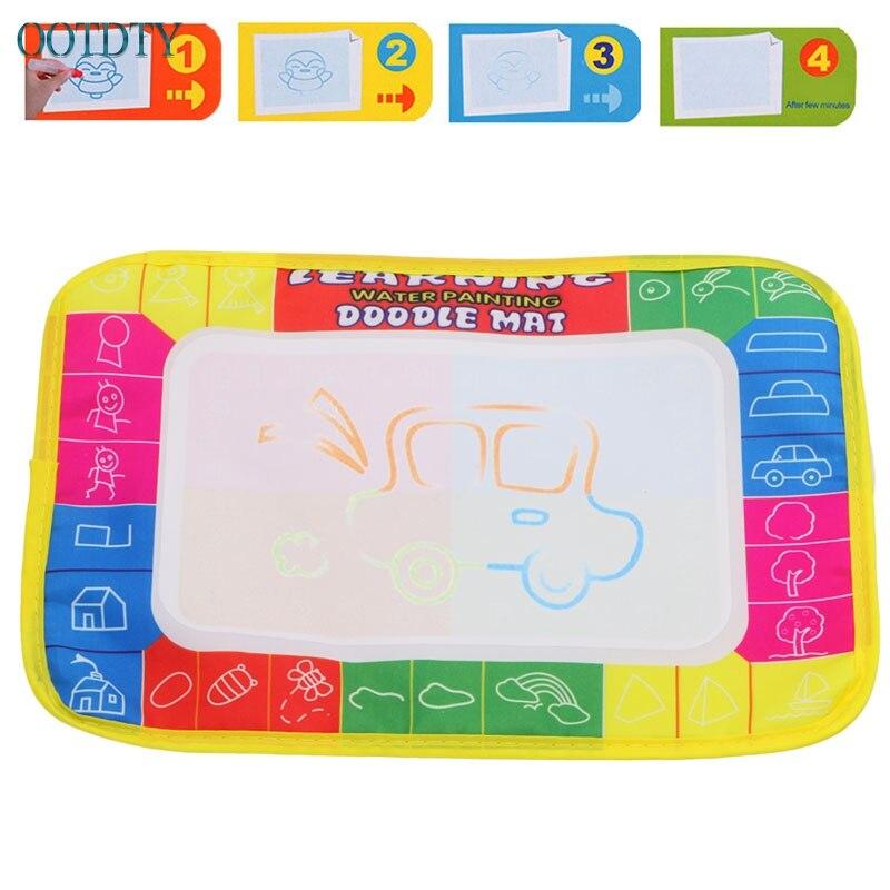 Высокое качество 20*12 см Детские Малыш Вода Мат Рисунок с волшебная ручка Doodle картина игры игрушка доска #330