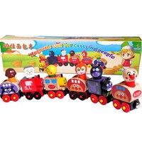 Baby Toys Anpanman Magnetic Train Thomas Train Wooden Toys Magnetic Vehicle Blocks Kids Educational Gift