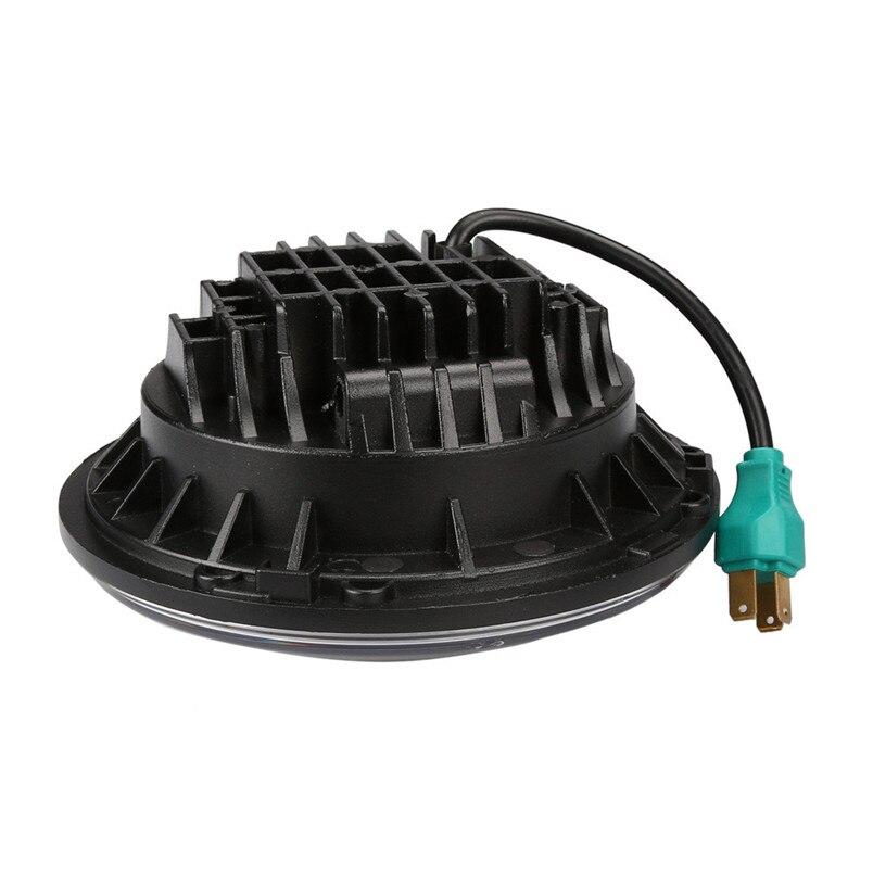 LED 7 дюймов круглый проектор Фары для автомобиля Черный Корпус низкая/высокая h6024 h6012 (пара) Прямая доставка P30 17 августа
