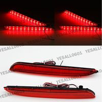 2X LED Rear Bumper Reflector Lens Brake Lights For Mazda 3 2010 2013 Axela Sport Sedan