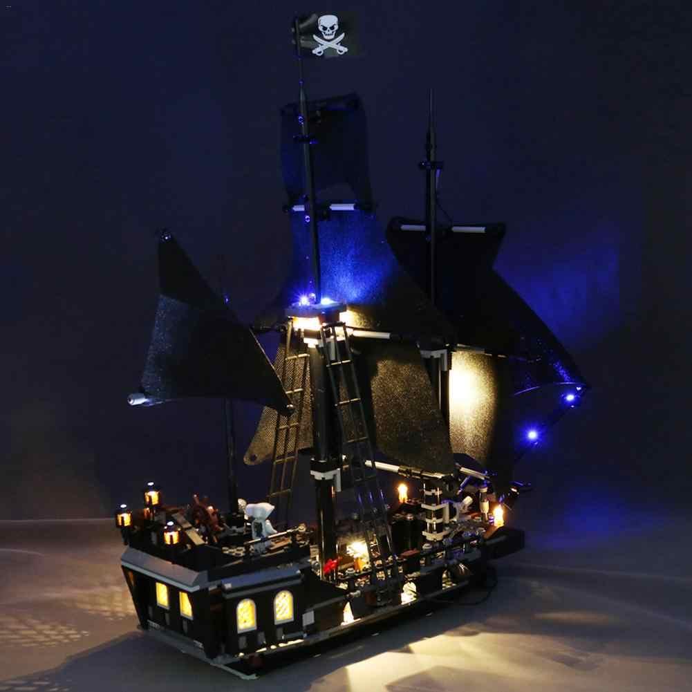 Światła LED zestaw oświetlenia dla LEGO piraci z karaibów Black Pearl Building Blocks dla Lego 4184 (nie obejmuje samochodu klocki zestaw)