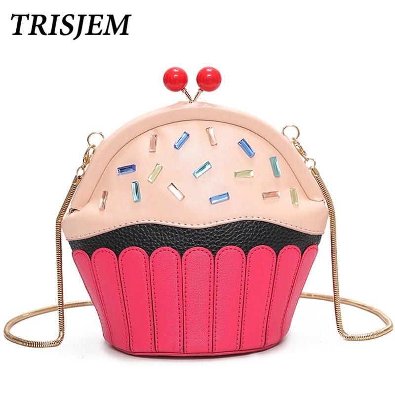 famous brand handbags women 2018 HOT SALE fun novelty cupcake female small chain pures crossbody bag bolsas mujer monedero de