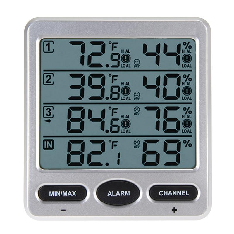 Température ambiante sans fil Lcd thermomètre numérique humidité intérieur/extérieur 8 canaux Thermo hygromètre