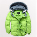 Children boy down jacket short paragraph Thicker section Kids winter coat big virgin baby White duck down 90% Zipper shirt