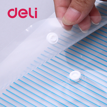 Deli 10pcs A4 Clear file Document Bag Paper File Folder Stationery School Office supplies Case PP snap bag blue deli 1pc plastic file folder student document storage bag school stationery expanding wallet document organizers school supplies