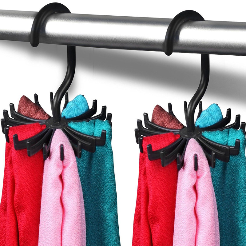 Tie-Rack Belt Scarf Storage-Organizer Jewelry-Cap Holds Multi-Function Rotatable Creative