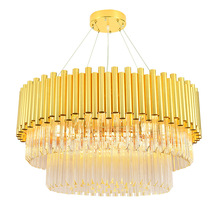 Nordic pendant crystal lamp modern minimalist fashion luxury restaurant bedroom living room villa chandelier
