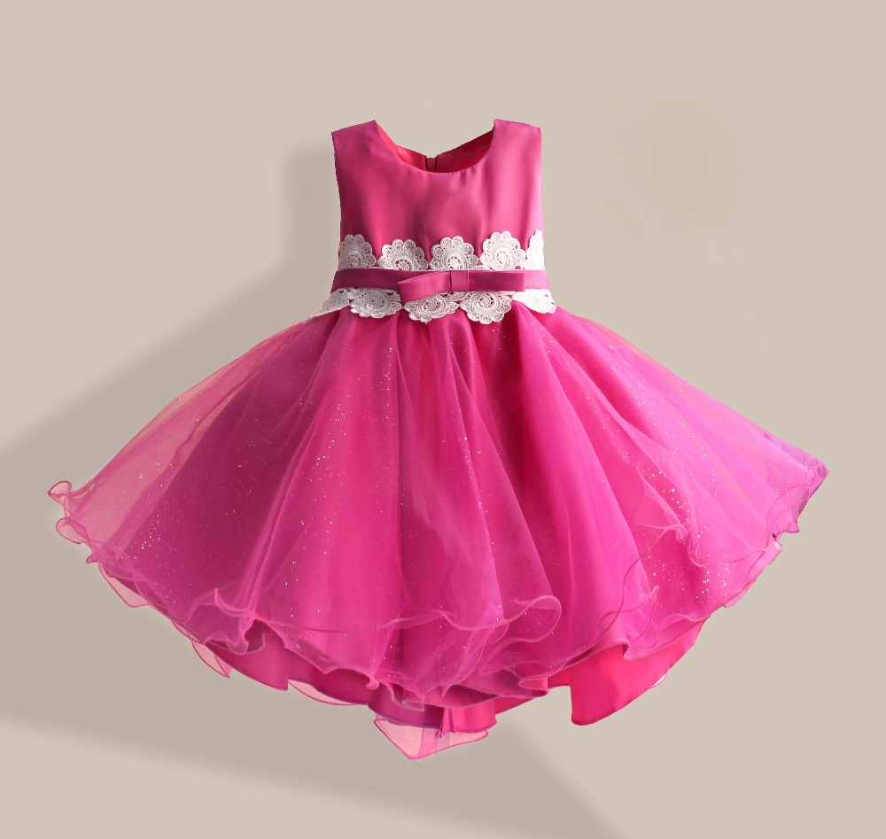 Christmas dress girls - Aliexpress Com Buy New Girl Party Dress Lace Flower Belt Princess Kids Dress For Christmas Birthday Dancing Tutu Style Girl Dresses Size 3 8t From