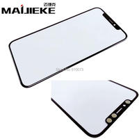 2PCS Lot MAIJIEKE Top Quality LCD Screen Front Glass Lens Repair Parts For IPhone X Front