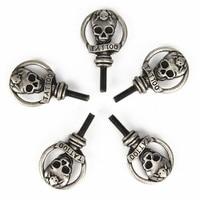 Tattoo Parts Supply Accessories 5Pcs Personality Skull TATTOO Type Tattoo Screw M4 For Machine Gun Parts Set