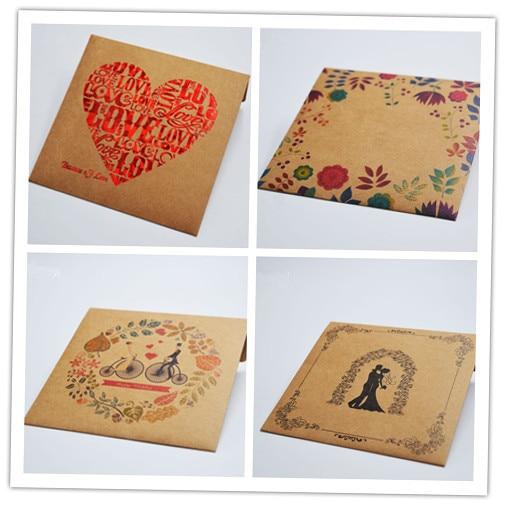 5 cái/lốc 250gsm Kraft CD Giấy Trường Hợp Trống Kraft Phong Bì Màu Tự Nhiên Đồng Bằng Kraft Paper Gift Phong Bì CD/DVD giấy