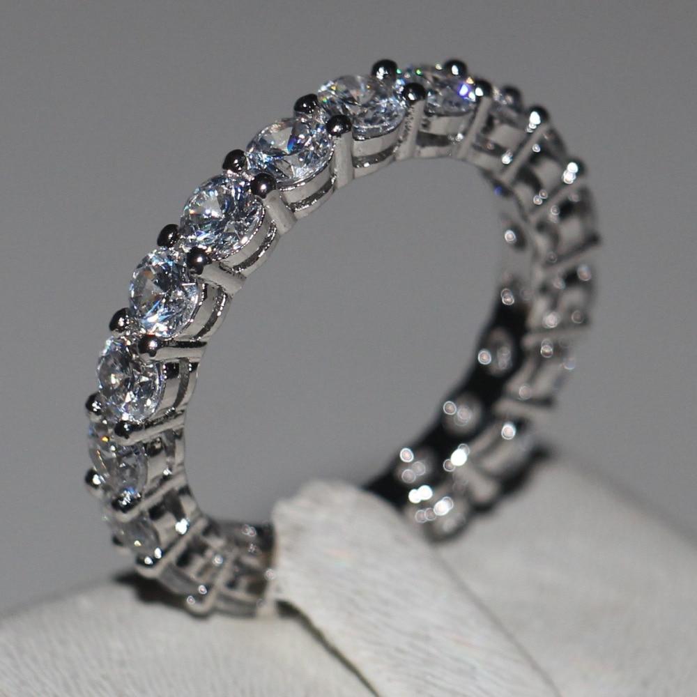 Big Cheap Wedding Rings: Women Engagement Wedding Ring 4mm Round CZ 925 Sterling
