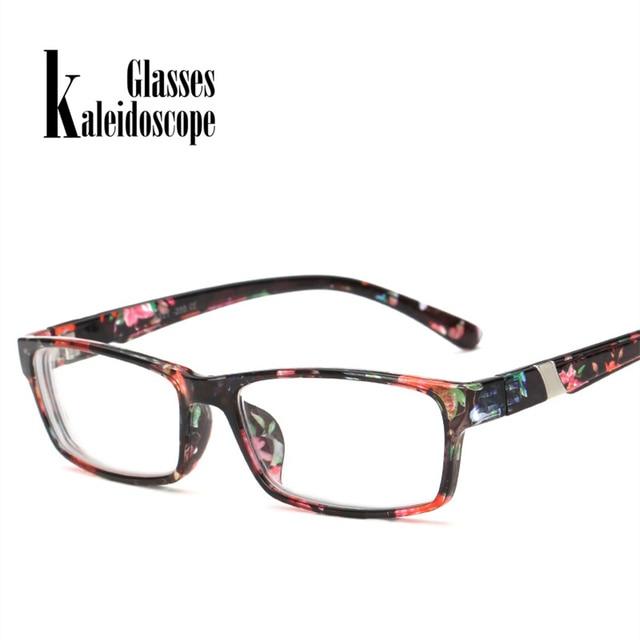 Kaleidoscope Glasses Moypia Eyeglasses Women Men Optical Nearsight Glasses With Degree Lenses -1.0 -1.5 -2.0 -2.5 -3.0 -3.5 -4.0
