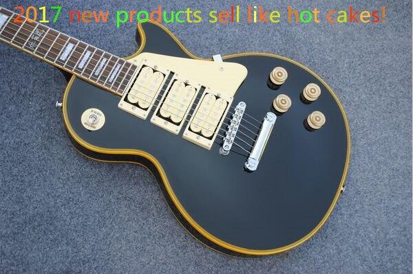 2015 nouveau + usine + Chibson Ace Frehley personnalisé boutique guitare électrique en noir brillant et vintage à la recherche de fixations chine