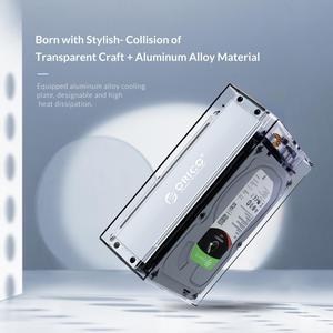 Image 3 - オリコデュアル3.5 USB C hddケースとraid機能10gbpsのsataにタイプc透明hddドックステーションuasp 24テラバイトhddエンクロージャ