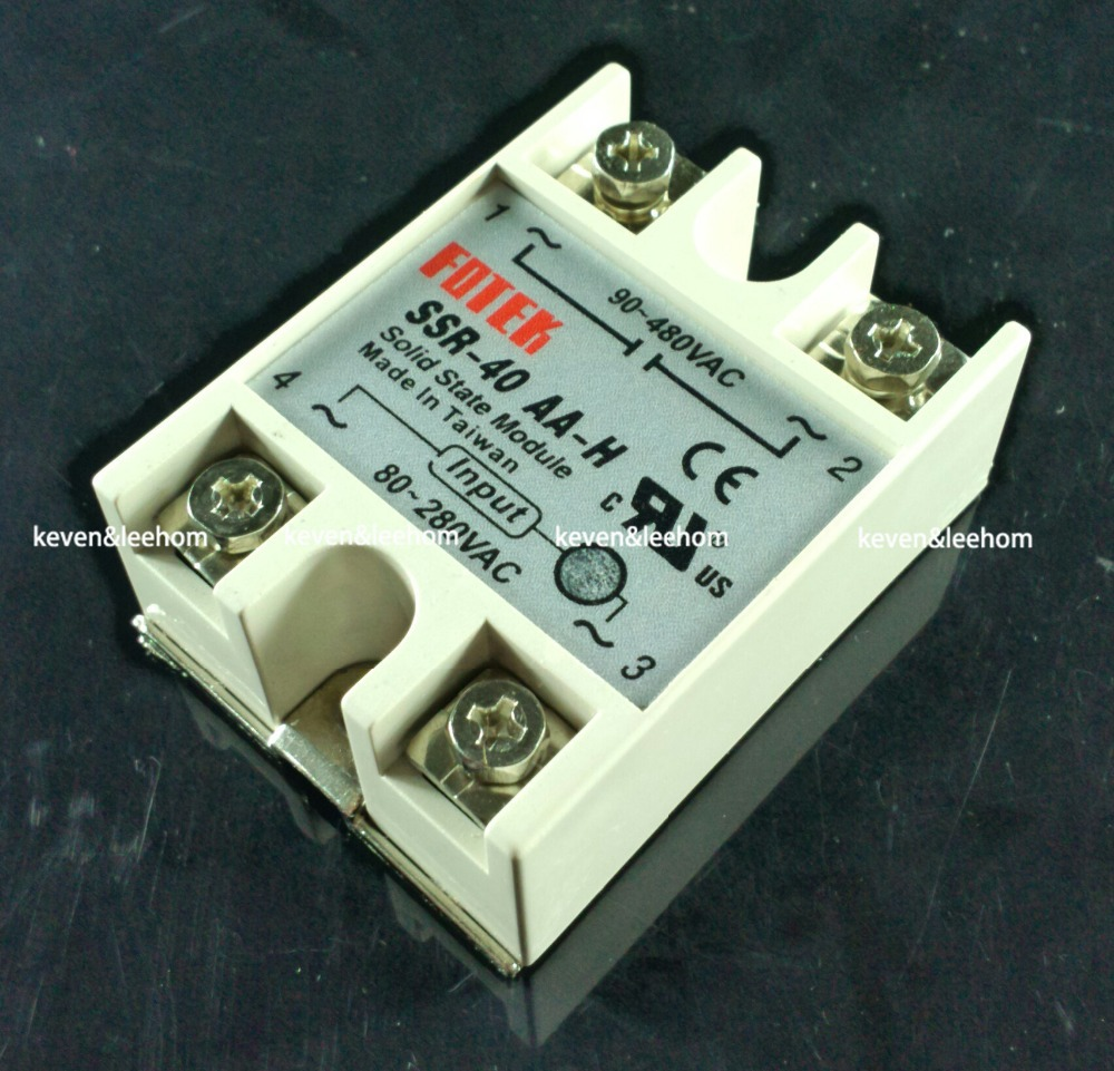 solid state relay SSR-40AA-H 40A actually 80-250V AC TO 90-480V AC SSR 40AA H relay solid state Resistance Regulator normally open single phase solid state relay ssr mgr 1 d48120 120a control dc ac 24 480v