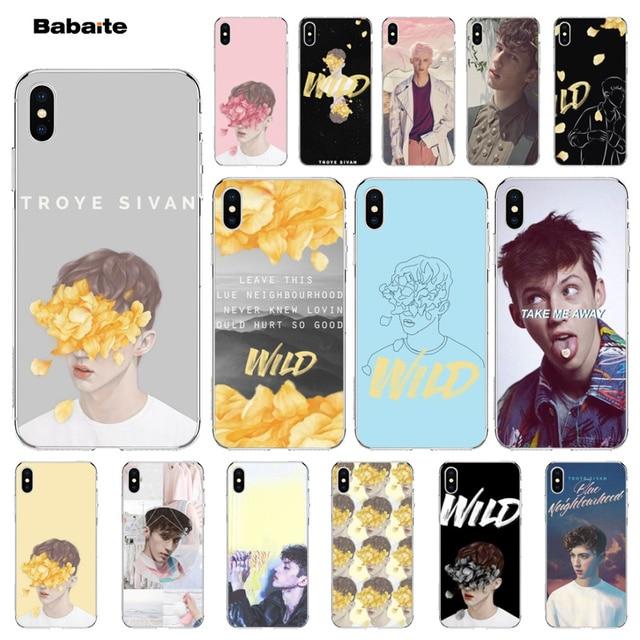 Troye Sivan Babaite Selvagem New Chegou Alta Qualidade Luxury phone case para iPhone 5 7 7 plus 5Sx 6 8 8 Plus X XS MAX XR tampa do caso