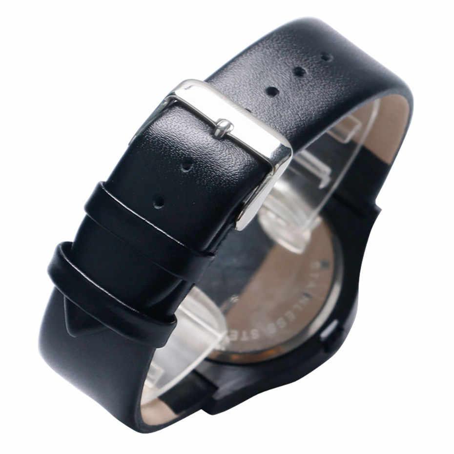 Turntable นาฬิกาผู้ชายควอตซ์หนังกระเป๋าสตางค์บัตรเครดิตผู้ถือกระเป๋าสตางค์หลายฟังก์ชั่นกระเป๋าซิปกรณี Photo ของขวัญสำหรับแฟนพ่อ