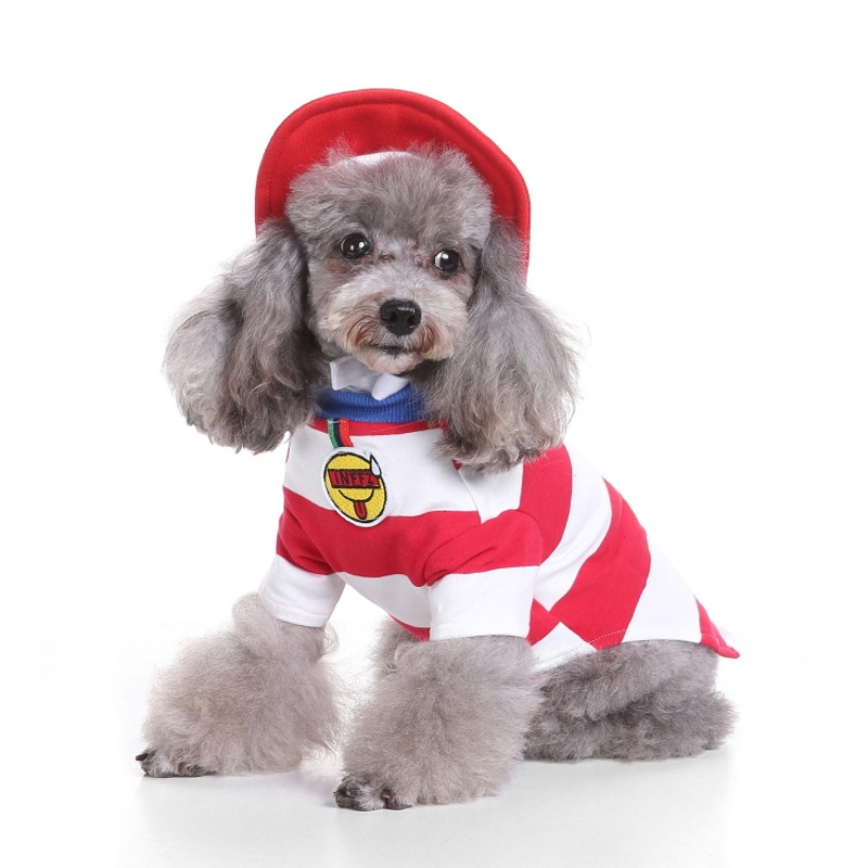 Christmas Dog Costumes.Us 8 61 50 Off Cute Christmas Dog Costumes Set Pet Clothing Puppy Cat Role Play Shirt Outfit Small Dog Clothes Fun Halloween Party Cosplay Coat In