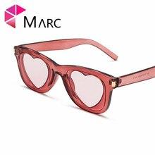 MARC 2019 New Love Frame sunglasses personality Brand Sun glasses Cat eye classic women INS heart fashion Eyewear