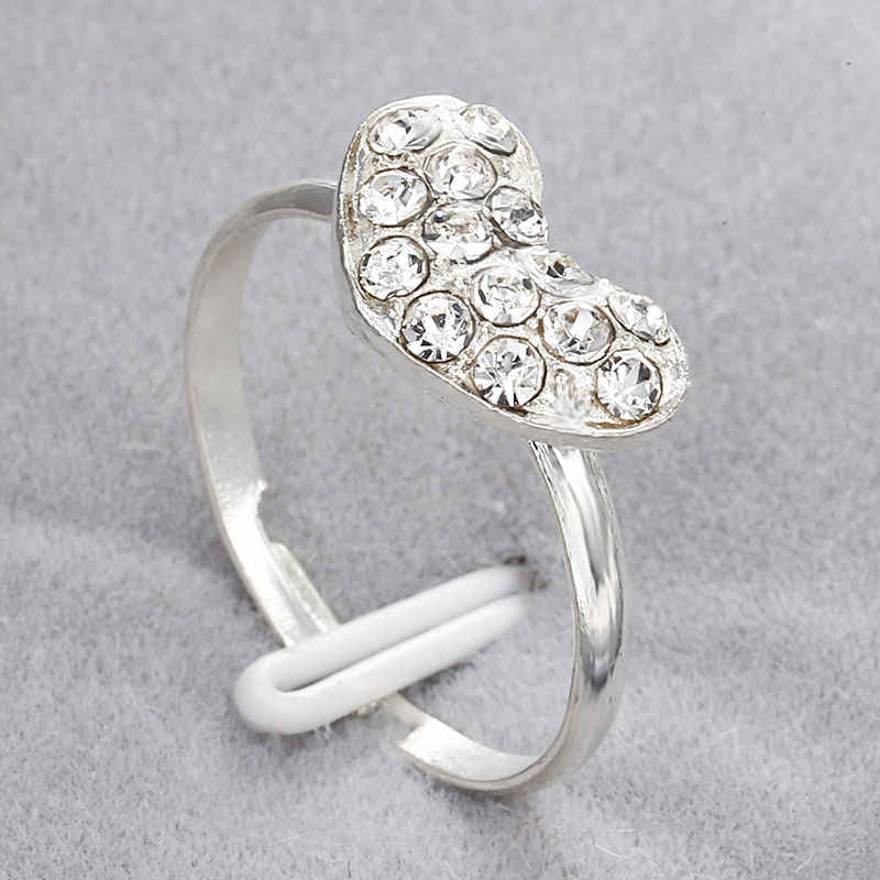 exquisite crystal heart shape rhinestone ring engagement for women top quality jewelry lover ring gift nz27