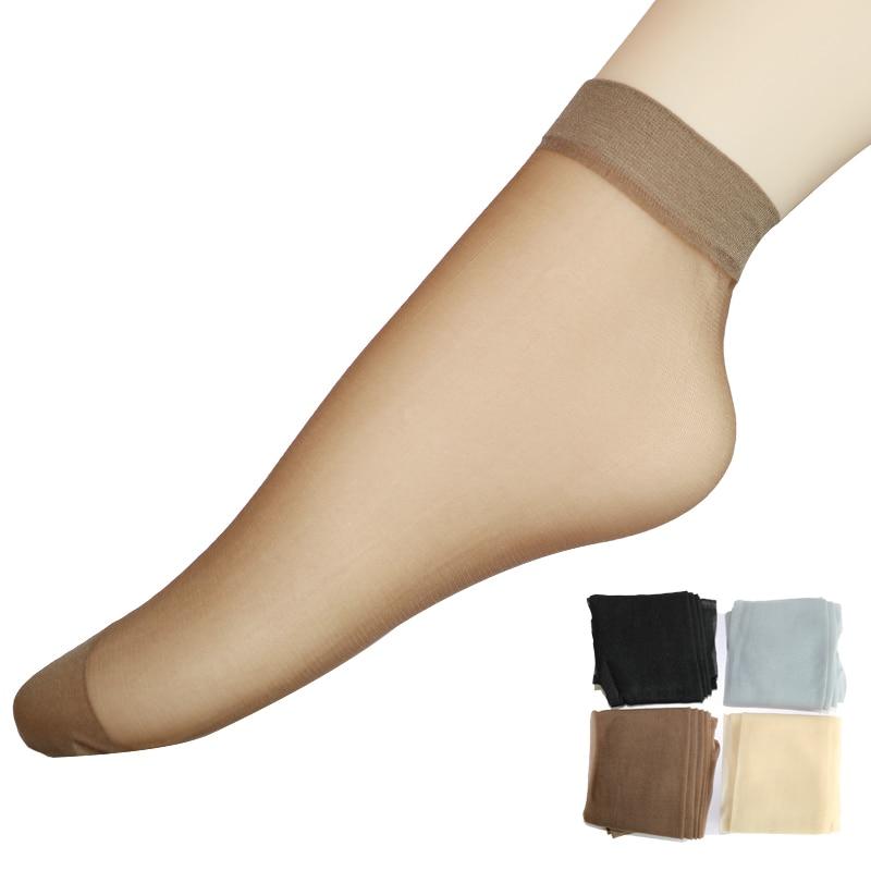 5 пар/лот 4 вида цветов короткие носки Для женщин s тонкие ультратонкие прозрачные шелковые носки Для женщин летние пикантные следы кожи