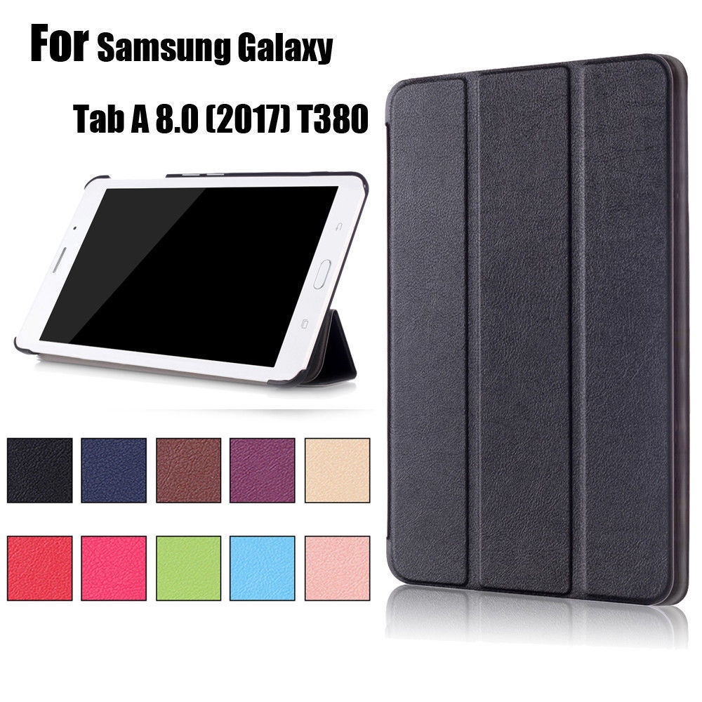 Taba 8 Inch 2017 Pu Case For Samsung Galaxy Tab A 8.0 SM T380 T385 SM T385 SM-T385 SM-T380 Tablet Protective Cover Cover Cases