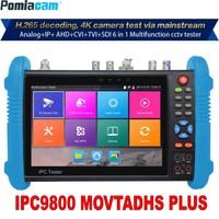 IP Camera Tester 9800 Plus 7inch H.265 4K 8MP TVI CVI AHD SDI CVBS IPC CCTV Monitor with cable tracer/TDR/Multimeter DHL Free