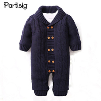 Baby Boy Girl Jumpsuit Newborn Baby Winter Thickened Rompers Cotton Thread Rompers Infant Baby Winter Clothing