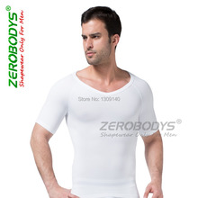 ZEROBODYS Mens Slimming Body Shaper Hot Shapers for Men Shaped fitness shirt clothes ropa casual hombre shirt B349