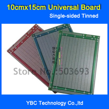 Free Shipping 5pcs/Lot 10x15cm Single sided Tinning Universal board 10*15cm Fiberglass PCB Experimental DIY Board