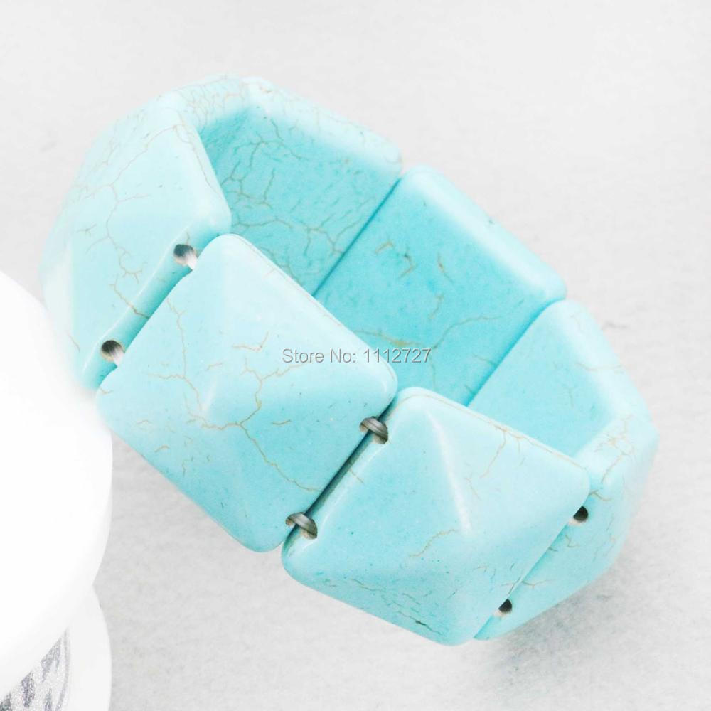 25mm Lucky Turkey Howlite Chalcedony Semi Finished Stone Bracelet Beads Wrist Jewelry Making Design Women Girls Gifts Fitting